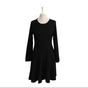 Calvin Klein Fit n Flare Cable Knit Sweater Dress